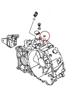 Cap Gearbox Housing 18mm (Genuine) EVO4-9, EVOX M/T