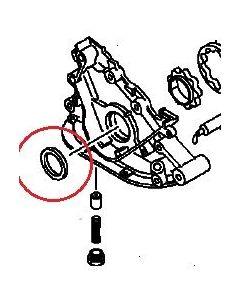 Seal, Front Crankshaft (Genuine) Legnum/Galant V6